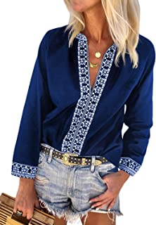 Best bohemian embroidered tops Reviews