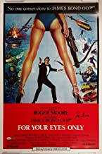 Roger Moore Signed 24x36 For Your Eyes Only Movie Poster James Bond 007 PSA/DNA