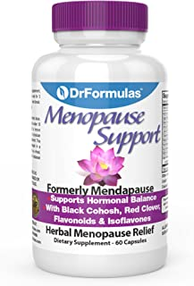 DrFormulas Menopause Supplements for Relief, Support and Weight Loss | Black Cohosh Extract for Hot Flashes, Vitamins, Dong Quai, 60 Count Complex