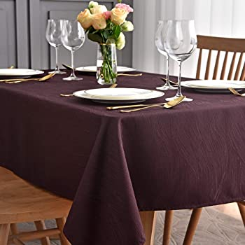 Autumn Vine Damask Tablecloth 60 inch x 144 inch Bronze fall thanksgiving autumn