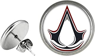Assassin's Creed Fashion Novelty Post Earrings Console Game Series with Gift Box
