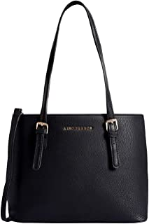 Lino Perros Black Faux Leather Handbag