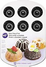 Wilton Mini Bundt Fluted Tube Cake Pan, 12-Cavity