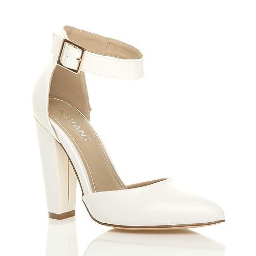 ShoesAmazon Heel uk White Block co CxBrdoe