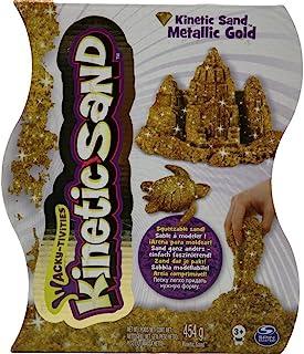 Spin Master 6026411 - Kinetic Sand - Metals 'n Minerals Sand (srebrny/złoty) 453 g