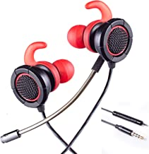 HERMEPER Gaming Earphones A16 with 3.5mm 4pole Plug fits for PS4, PC, Xbox one, Mobile Phone, iPad and Table PC(RED)