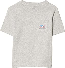 Waving Flag Whale Fill Pocket T-Shirt (Toddler/Little Kids/Big Kids)