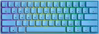 GK61 Mechanische Gaming Tastatur – 61 Tasten RGB beleuchtete LED Hintergrundbeleuchtung, PC/Mac Gamer (Gateron Optical Black, Blau)
