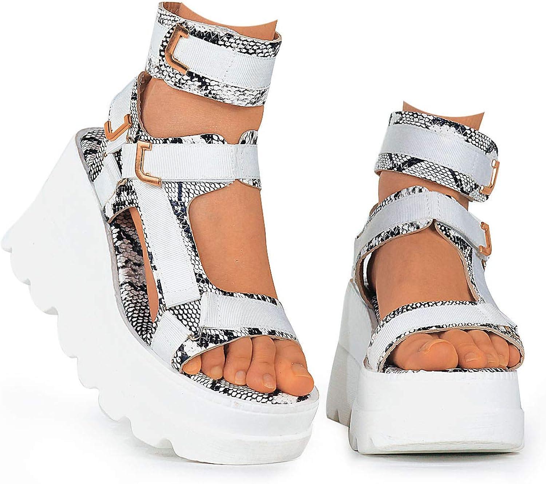 Erocalli Platform Sandals for Cheap mail order sales Strap Sporty Women Wedges Detroit Mall