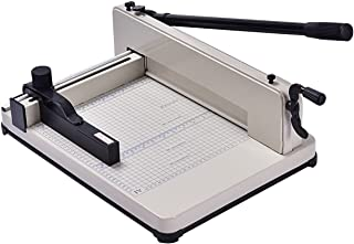 Giantex 12'' Guillotine Paper Cutter, Heavy Duty A4 Trimmer Machine with Commercial Metal Base and 400 Sheet Large Capacity for Home and Office, Paper Trimmer