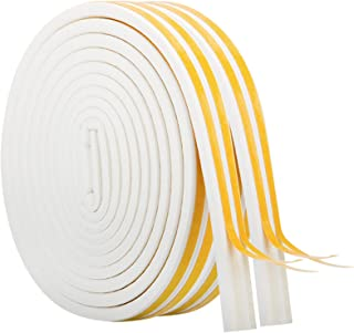 33Ft Long Insulation Weatherproof Doors and Windows Soundproofing Seal Strip Collision Avoidance Rubber Self-Adhesive Weat...