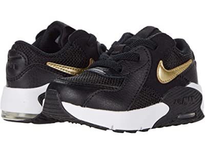Nike Kids Air Max Excee (Infant/Toddler) (Black/Metallic Gold Star/White) Kid