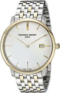 Frederique Constant FC-306V4S3B2 Slimline Mens Watch - Silver Dial