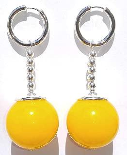 TamaShop Full Size Yellow Jade Potara Earrings - Dragon Ball Z Anime Cosplay Costume Accessories