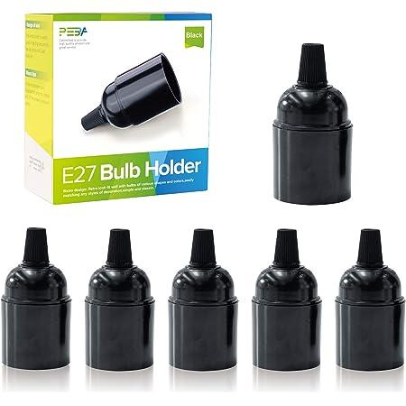 E27 porte-lampe E27 Douille de Lampe en Bakélite E27 Porte-Ampoules Douille Pour ampoule E27 PEBA 6 PCS Luminaire Éclairage Décoration pour Café, Restaurant, Cuisine