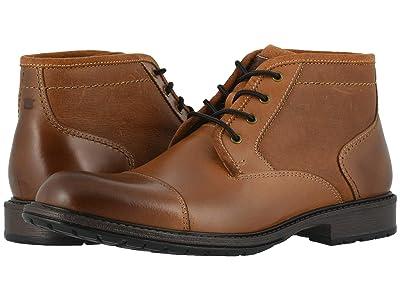 Florsheim Vandall Cap Toe Lace-Up Boot (Tan Leather) Men