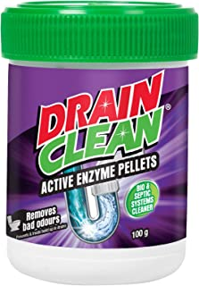 Drain Clean Active Enzyme Pellets, 100 grams