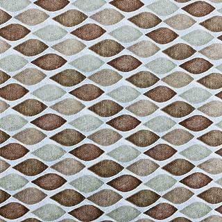 Kt KILOtela Tela de loneta Estampada - Retal de 300 cm Largo x 280 cm Ancho   Geométrico, Gotas - Marrón, Beige ─ 3 Metros