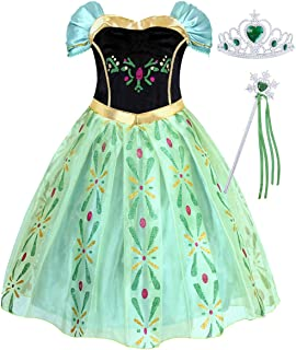 AmzBarley Girls Princess Halloween Costumes Dress up Birthday Party Cosplay Role Play Outfits with Accessories