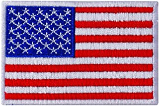 Graphic Dust 3x2 Inches, US USA American United States Flag Embroidered Iron On Patch Applique