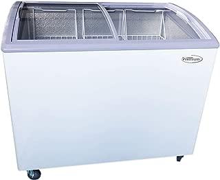 curved glass top freezer