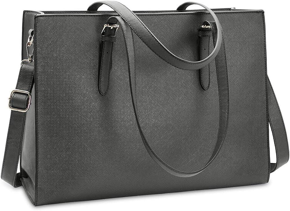 Nubily, borsa a tracolla/mano per donna, in morbida pelle sintetica, NB6602-grey
