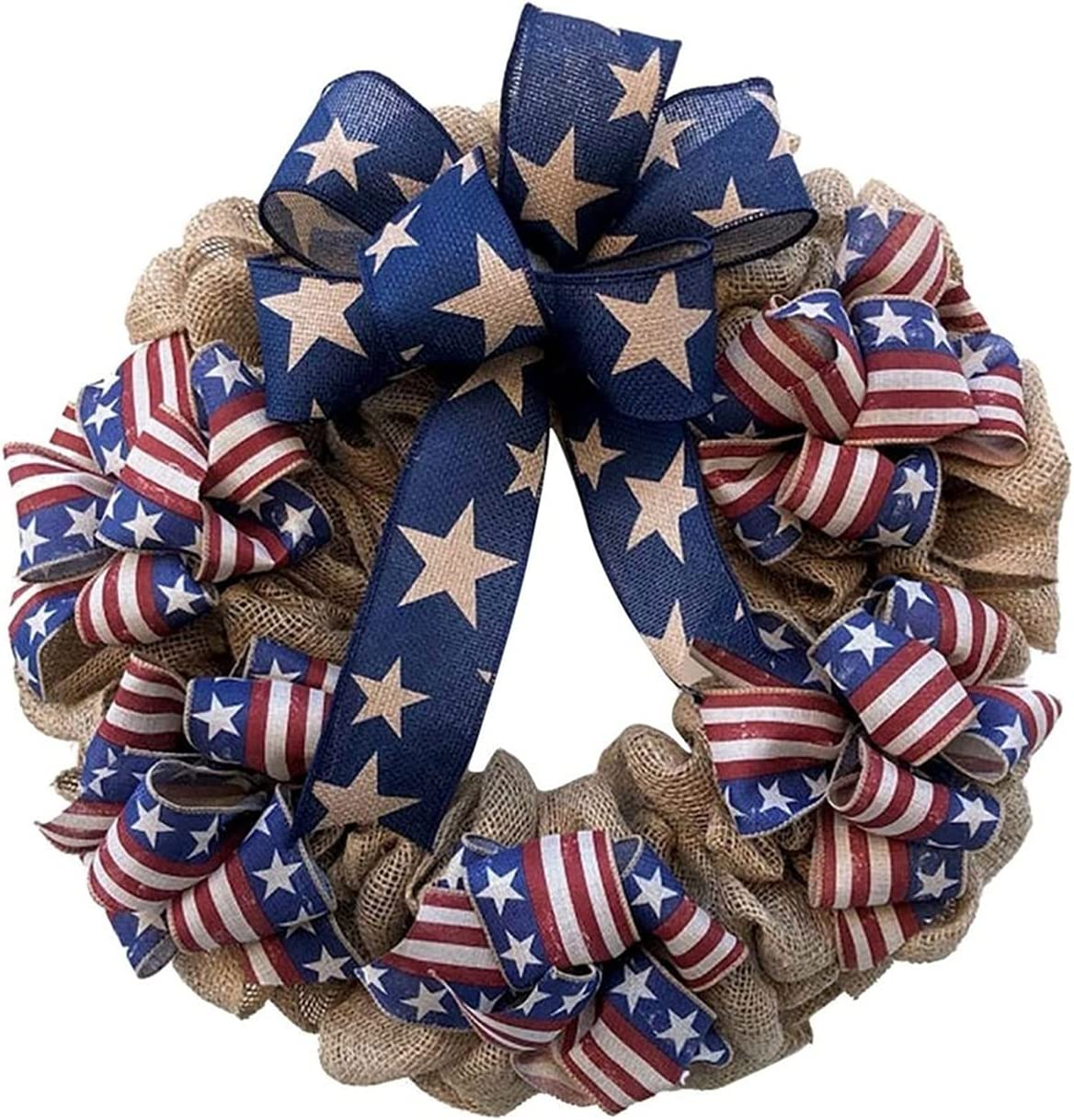 DONGZHI Front Door online shopping Decor Safety and trust Wreath Patriotic July Americana 4th Wre