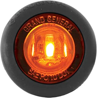 "GG Grand General Grand General 75200 1-1/4"" Dual Function Mini Push-in Wide Angle LED Light for Trucks, Towing, Trailers, ATVs, UTVs, RVs Amber"