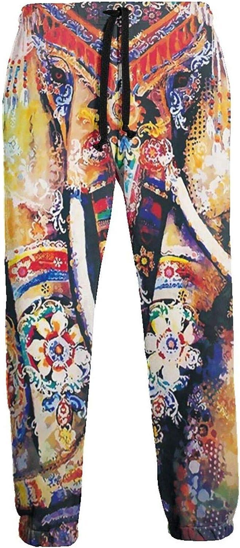 Active Sweats Jogger Pants Elephant Mandalas Watercolor Running Joggers Casual Sweatpants for Men Women