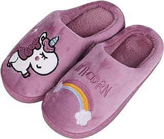 HommyFine Zapatillas de Estar por Casa para Niñas Niños Invierno Zapatillas Interior Casa Caliente Pantuflas Suave Calenta...