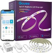 Smart LED Strip Lights, Govee RGBWW WiFi Light Strip Works with Alexa Google Home, 16 Million Colors, Warm White and Cool ...