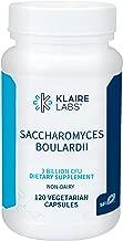 Klaire Labs Saccharomyces Boulardii - 3 Billion CFU Powerful Shelf-Stable Yeast Probiotic for Kids, Men & Women, Hypoallergenic & Non-Dairy (120 Capsules)