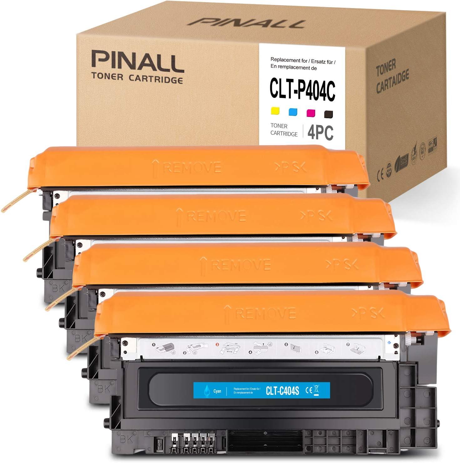 Pinall 4 Toner Kompatibel Mit Samsung Clt P404c Für Samsung C480w Xpress C480fw C480 C480fn C430 C430w Drucker Schwarz Cyan Magenta Gelb Bürobedarf Schreibwaren