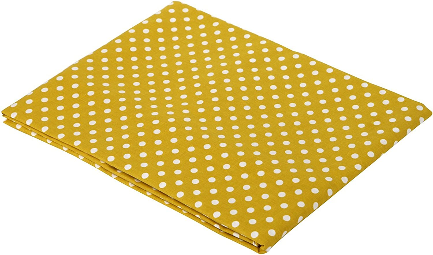 Bacati Yellow Pin Dots Crib Fitted Sheet
