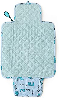 Milk&Moo Changing Baby Diaper Changing Pad, Waterproof Portable Changing Mat, Diaper, Newborn Baby Essentials (Blue)