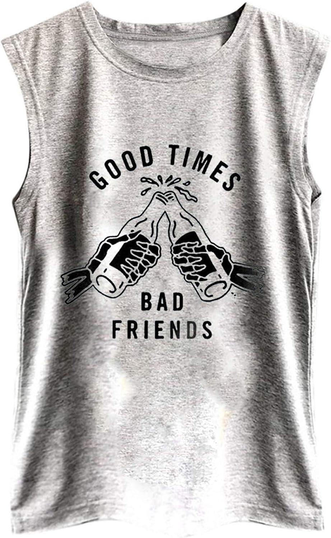 Womens Summer Tank Tops Vintage Graphic Sleeveless Tee Shirts Ca