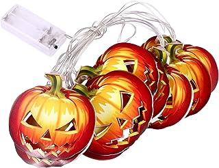 OSALADI هالوين سلسلة ضوء اليقطين LED مصباح هالوين المنزل حديقة شنقا الدعائم لوازم حفلات الهالوين