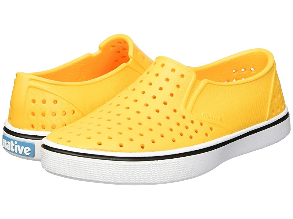 Native Kids Shoes Miles Print (Little Kid/Big Kid) (Beanie Yellow/Shell White) Kids Shoes