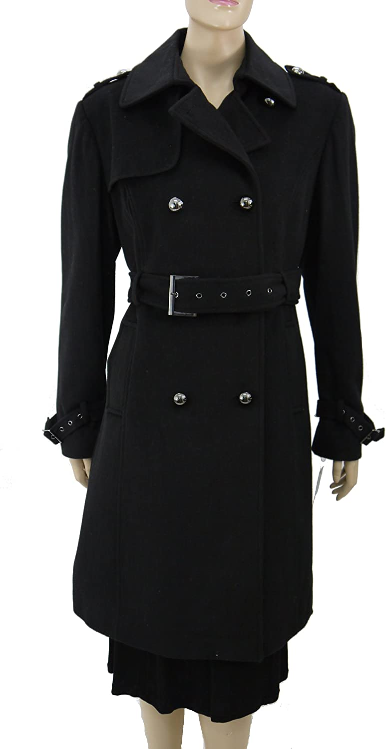 Women's Long Wool Coat with Belt