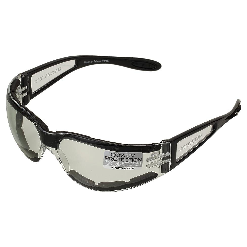 わかりやすい傾いた寸法BOBSTER(ボブスター) シールドII スポーツ サングラス クリアレンズ UV100%カット ESH203 (日本正規品)