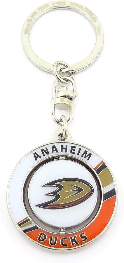 Jf Sports Canada Unisex Erwachsene Anaheim Ducks Spinner Keychain Schlüsselanhänger Orange Einheitsgröße Sport Freizeit