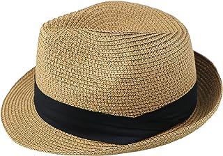 قبعة صيفية قصيرة ذات حافة قصيرة وطاقية للأطفال بنين وبنات، من فيدورا - قبعة صغيرة لقبعة الشاطئ من سان-هات جاز-سترو