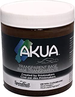 "Akua Intaglio IITB Water Based Ink, Non-Toxic, 8 oz. Jar, Transparent Base, 2.7"" Height, 3.3"" Width, 3.3"" Length"
