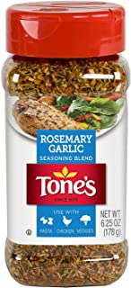 Tone's Rosemary Garlic Seasoning, NO MSG 6.25oz Bottle (Pack of 3)