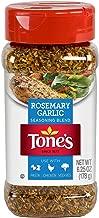 Tone's Rosemary Garlic Seasoning, NO MSG 6.25oz Bottle (Pack of 3)