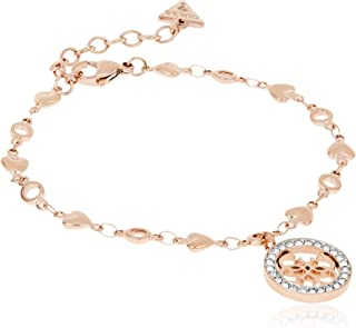 Guess Womens Stainless Steel Fashion Bracelet - UBB78018-L, Color Rose Gold, Size 0.39 inches