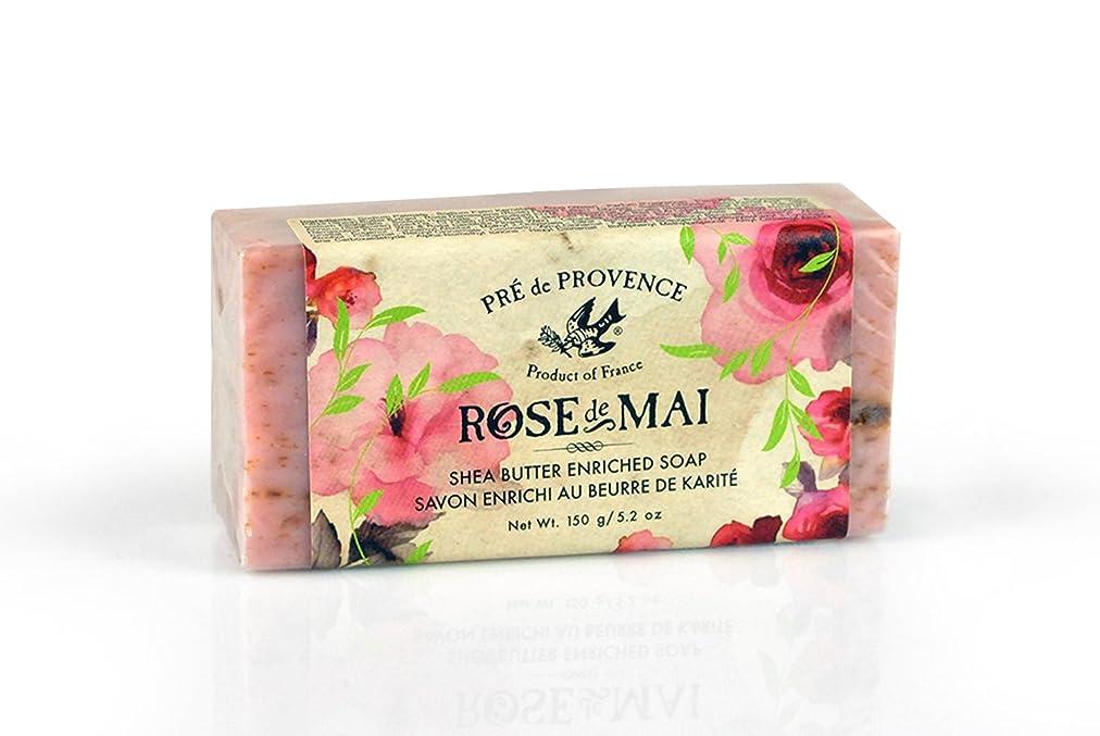 日光従う固有のPRE de PROVENCE ローズ ドゥ メ シアバターソープ ローズ ROSE プレ ドゥ プロヴァンス Rose de Mai Shea Butter Soap