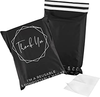 Compostable Reusable Poly Mailers Courier Shipping Bags Mailing Envelopes | 50PCS | 280mm x 380mm | Eco Friendly Biodegrad...