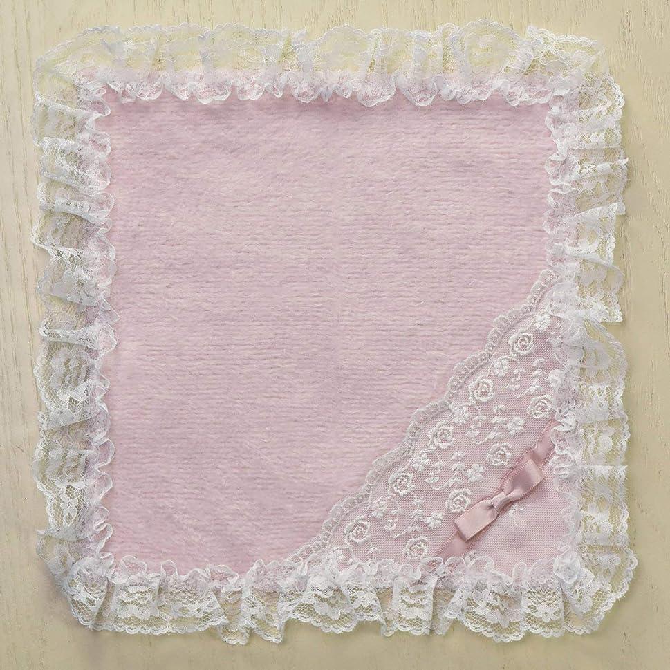 相対性理論発明雑草LALUICE(ラルイス) リボンタオルハンカチ ピンク サイズ:26×26cm