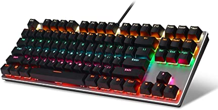 Sponsored Ad – LeadsaiL Mechanical Gaming Keyboard RGB LED Rainbow Backlit Wired Keyboard with Blue Switches for Windows G...